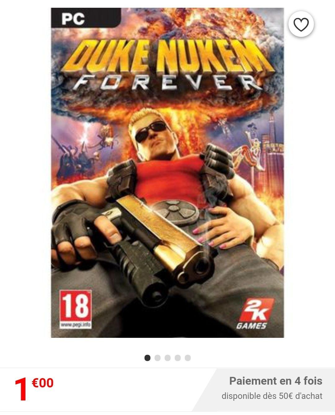 Duke Nukem Forever sur PC (Vendeur Tiers)