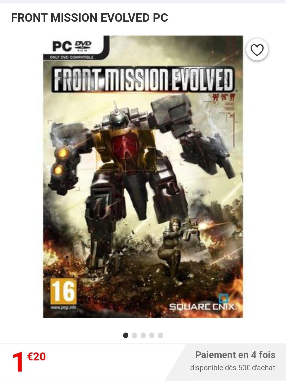 Front Mission Evolved sur PC (Vendeur Tiers)
