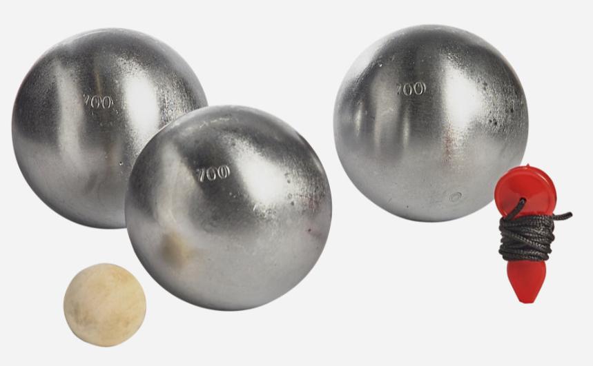 Boules de pétanque Triplette Double Chromage Cochonnet Et M Noname - 745