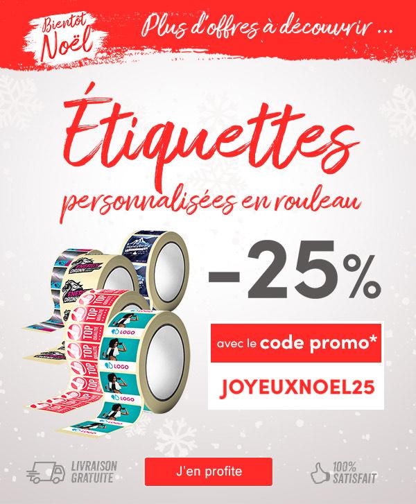 25% de remise sur les Étiquettes personnalisées en rouleau (easyflyer.fr)