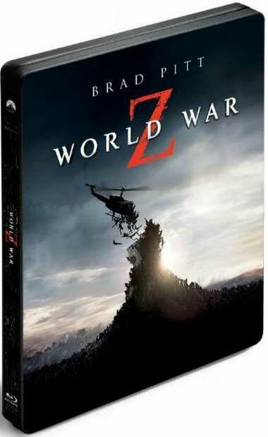 Coffret Steelbook World War Z - Version Longue Inédite en Blu-Ray 3D + Blu-Ray + Dvd