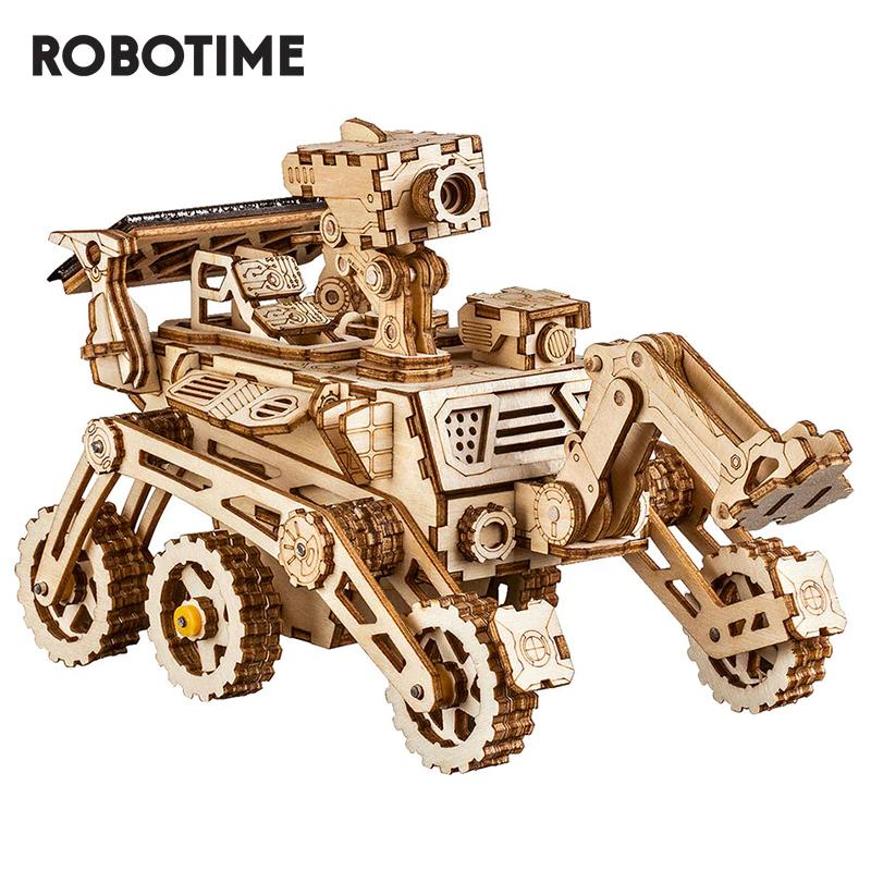 Kit de construction 3D en bois Robotime ROKR Rover Curiosity - alimenté par énergie solaire (entrepôt BE)