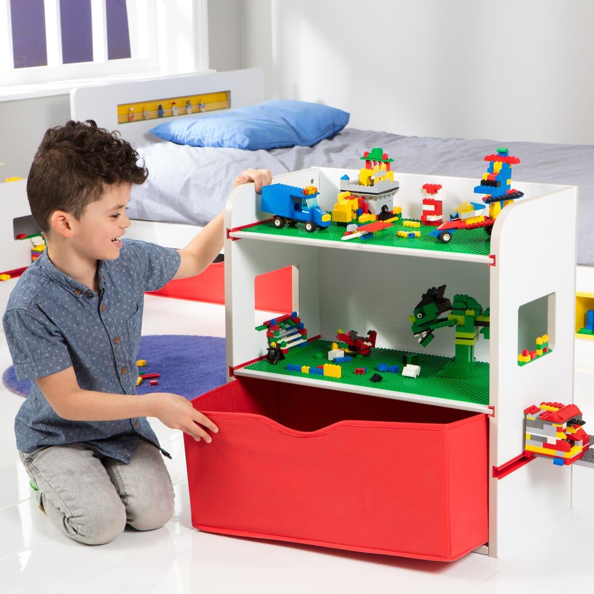 Table de chevet récréative avec étagères de rangement Lego Room 2 Build