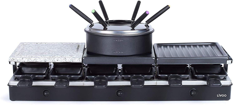 Appareil à Raclette fondue Livoo DOC234 - 12 personnes, 1650W