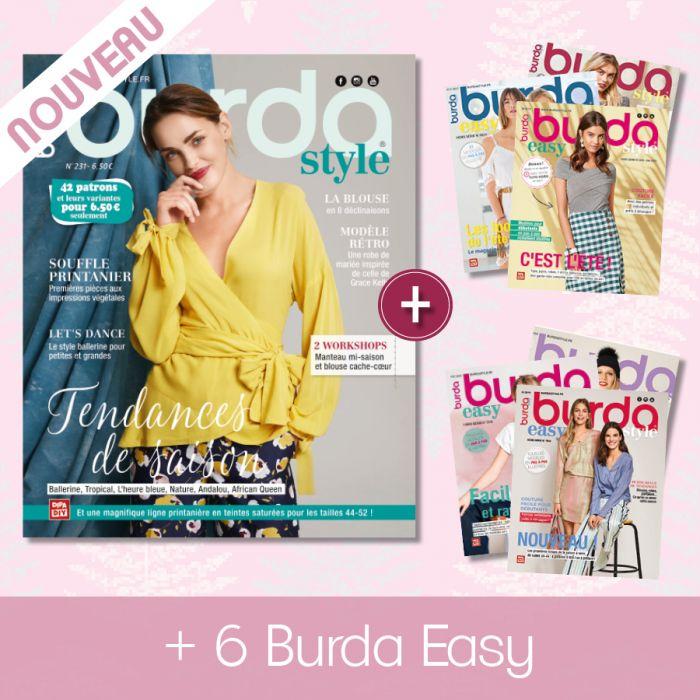 1 an d'abonnement au magasines de patrons de couture Burda Style et Burda Easy (18 numéros) - Burdastyle.fr