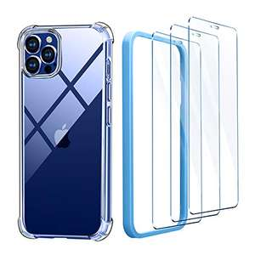 Coque compatible iPhone 12 et iPhone 12 Pro + Verre trempé (Via coupon - Vendeur tiers)