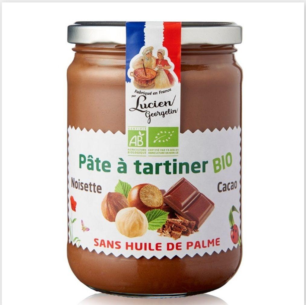 Pâte à tartiner BIO sans huile de palme Lucien Georgelin - 280 g