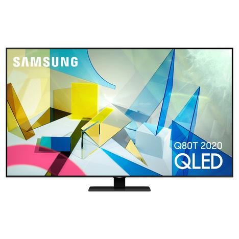 """TV 55"""" Samsung QE55Q80T 2020 - QLED, 4K, Dalle 100 Hz, HDR10+, Smart TV (Via ODR 200€)"""