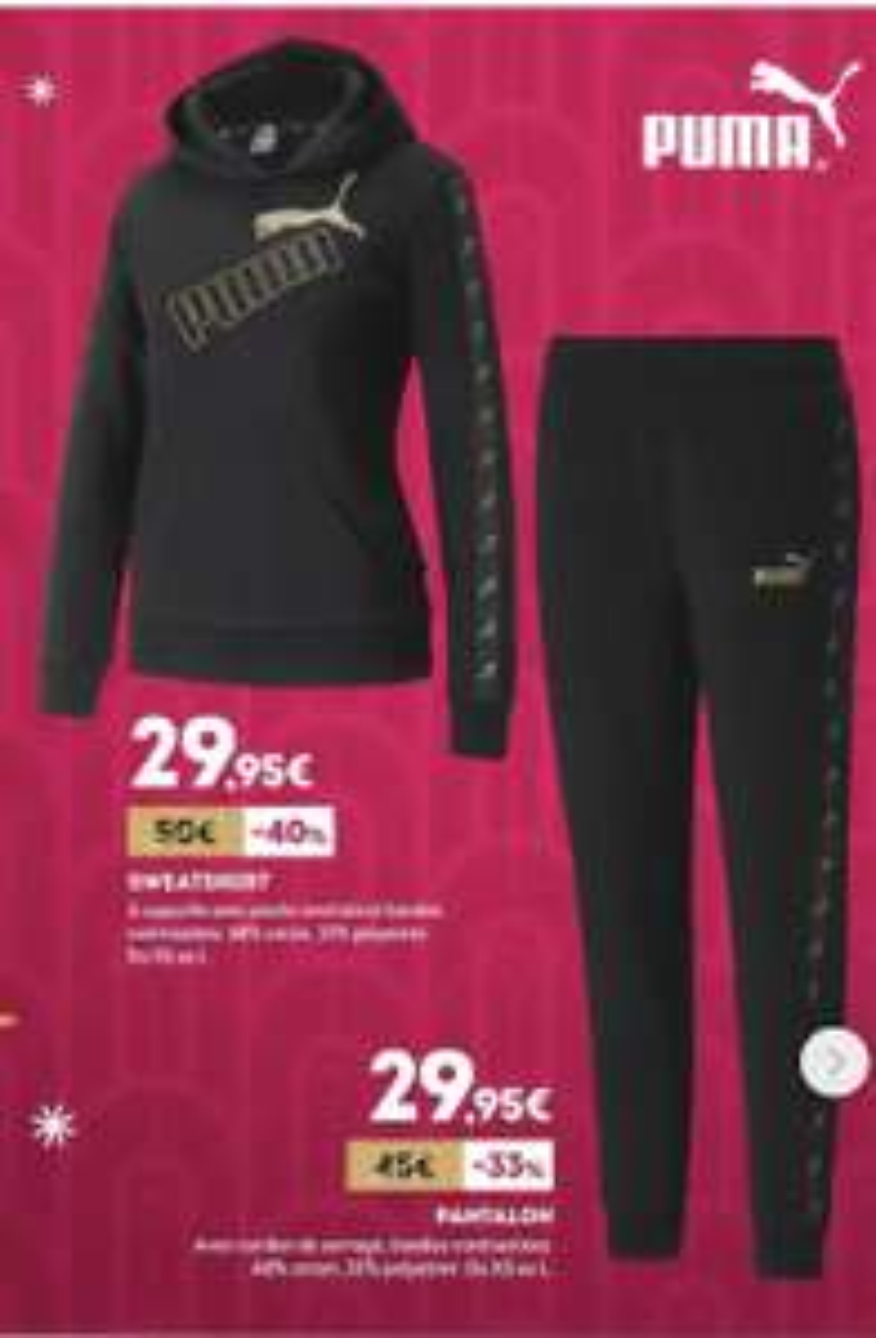 Sélection de produits en promotion - Ex : Ensemble sweat/pantalon femme Puma