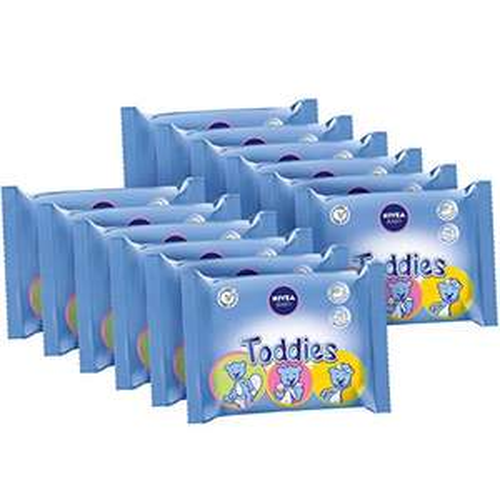 12 Paquets de 60 Lingettes Nivea Baby Toddies