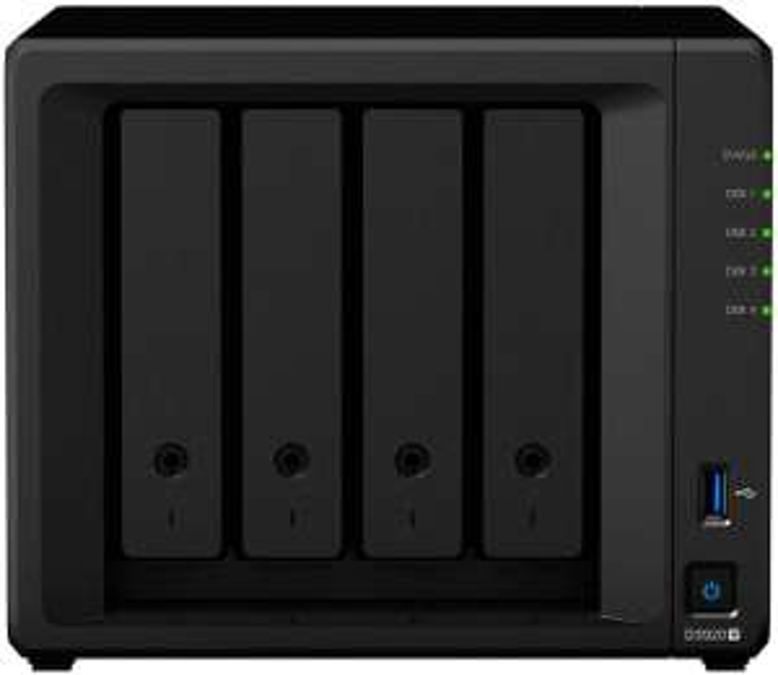 Serveur NAS Synology DiskStation DS920+, 4 baies, 4 Go RAM, Noir (Frontalier Suisse)