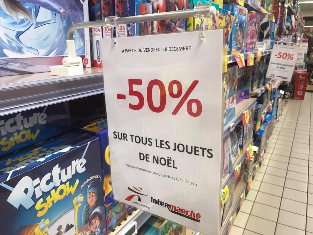 50% de remise sur les jouets de Noël (Cholet 49)