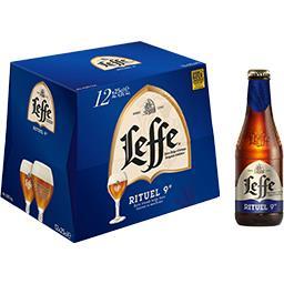 2 Packs de 12 bouteilles de Bière Leffe Rituel