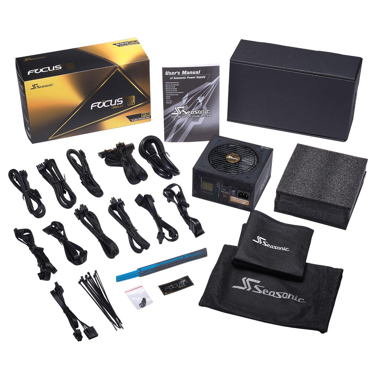 Alimentation PC modulaire Seasonic FOCUS GX-550 - 80PLUS Gold, 550 Watt
