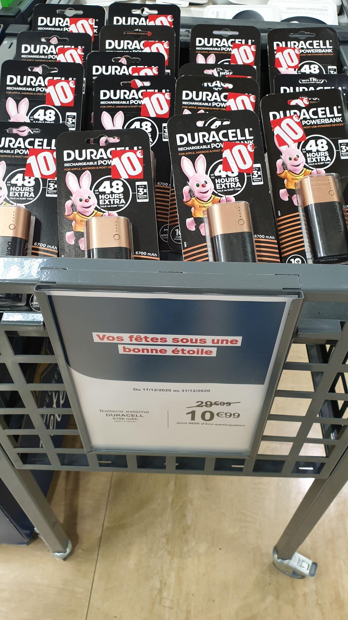 Batterie externe Duracell - Boulanger La garde (83)