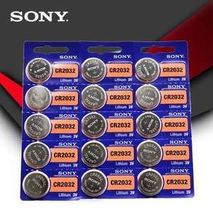 Lot de 15 Piles Sony CR2032