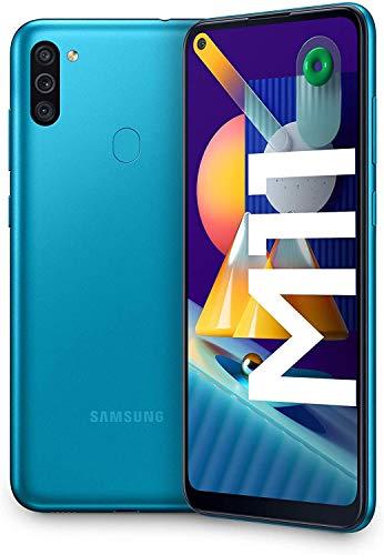 "Smartphone 6.4"" Samsung Galaxy M11 - Ecran HD + Infinity-O, 5000 mAh, 32 Go ROm, 3 Go ROM - Noir ou Bleu"