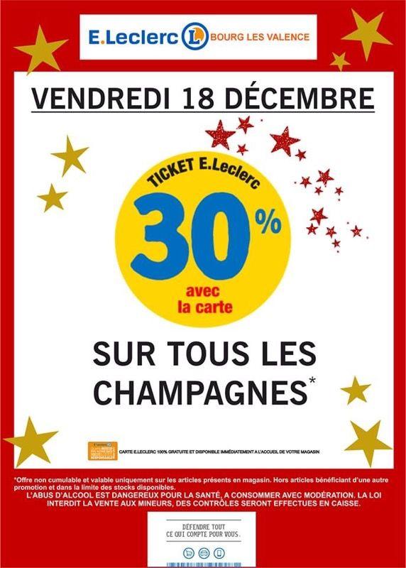 30% offerts en bons d'achat sur les Champagnes (Bourg-lès-Valence 26)