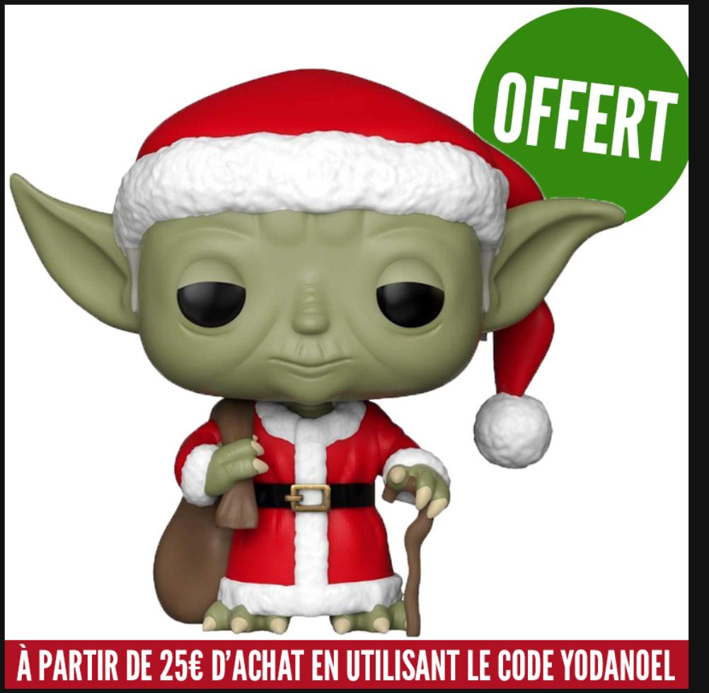 Figurine Funko POP Yoda Noël offerte dès 25€ d'achat
