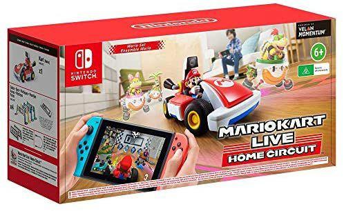 Jeu + accessoire Mario Kart Live: Home Circuit Luigi ou Mario - National
