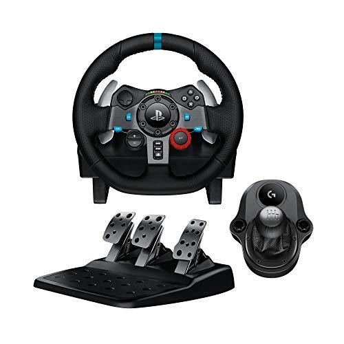 Volant de course Logitech G29 + Levier de vitesse et pédales pour PC et PS4