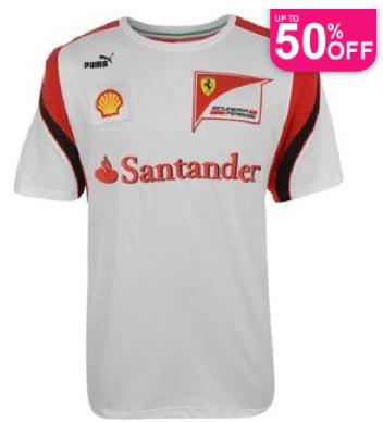 T-shirt blanc Homme Puma Scuderia Ferrari Taille S