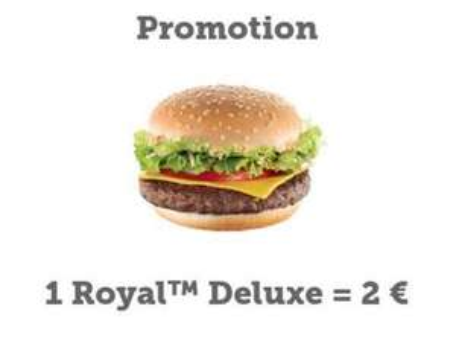 Un Mc Chicken ou un Royal Deluxe via une commande sur le site ou l'application mobile