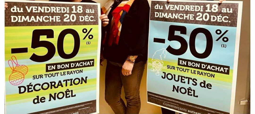 50% crédité en bon d'achat sur tout le rayon jouets et décoration de Noël - Saint-junien (87)