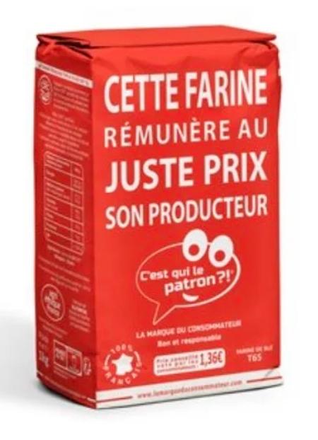 Lot de 2 paquet de Farine C'est Qui Le Patron ? - 2x 1KG, Leclerc La Valette et Toulon (83)