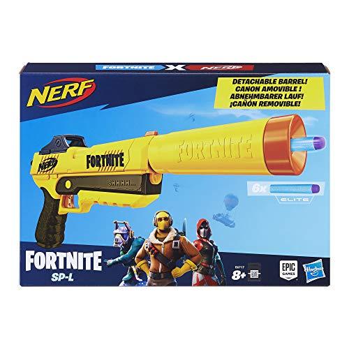 Jouet Pistolet Nerf Fortnite SP-L et Flechettes Nerf Elite