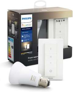 2 ampoules connectées Philips Hue White Ambiance + 2 Dimmer switch