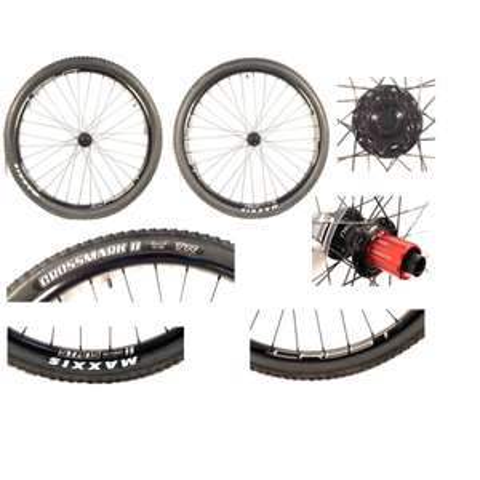 "Paire de roues 29"" Notubes Ztr Crest MK3 Disc (15x100mm /12x142mm) + Tyres MAXXIS"