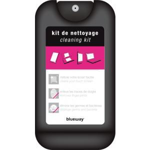 Kit de nettoyage pour écrans tactiles (1 flacon + 1 chiffon + 1 housse de transport) +  2 outils d'extraction de carte SIM / Paiement via Buyster