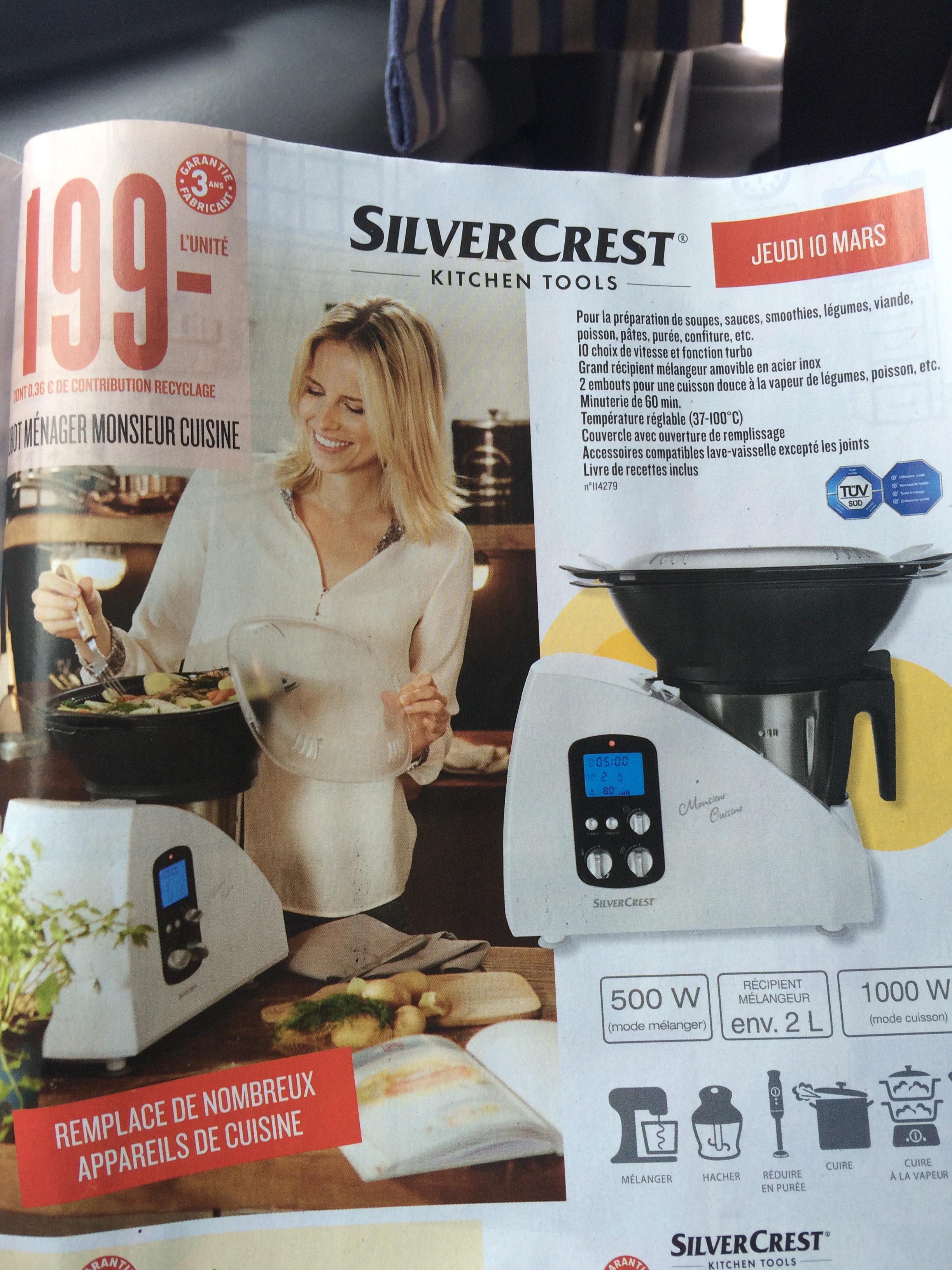 Robot m nager monsieur cuisine silvercrest 2l - Silvercrest robot cuisine ...