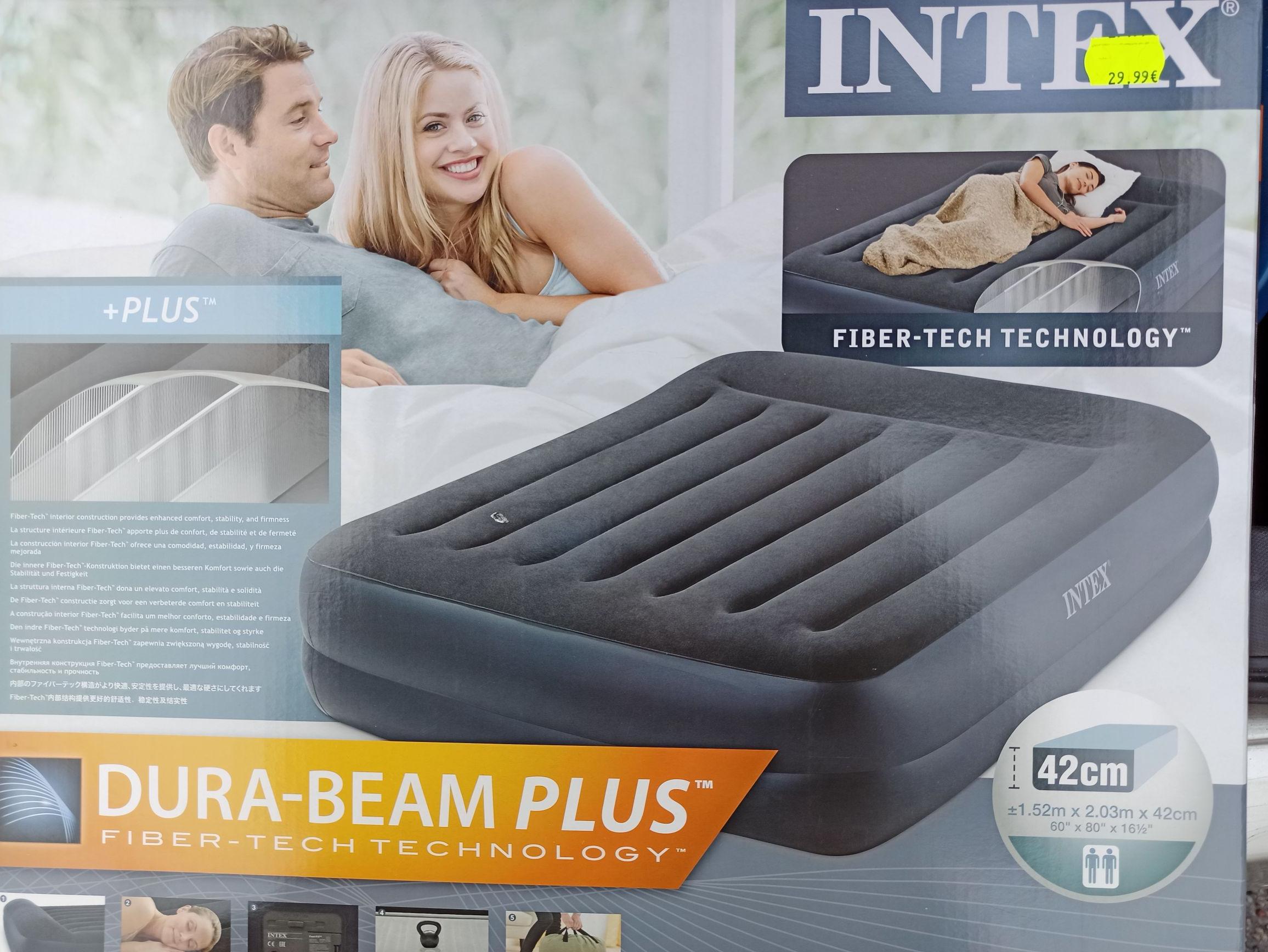 Matelas gonflable 2 places Intex Dura-beam Plus avec gonfleur intégré