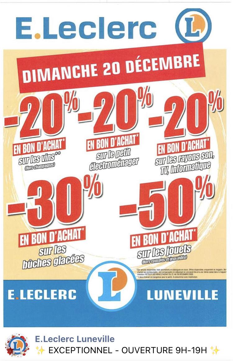 50% crédité en bon d'achats sur les jouets - Luneville (54)