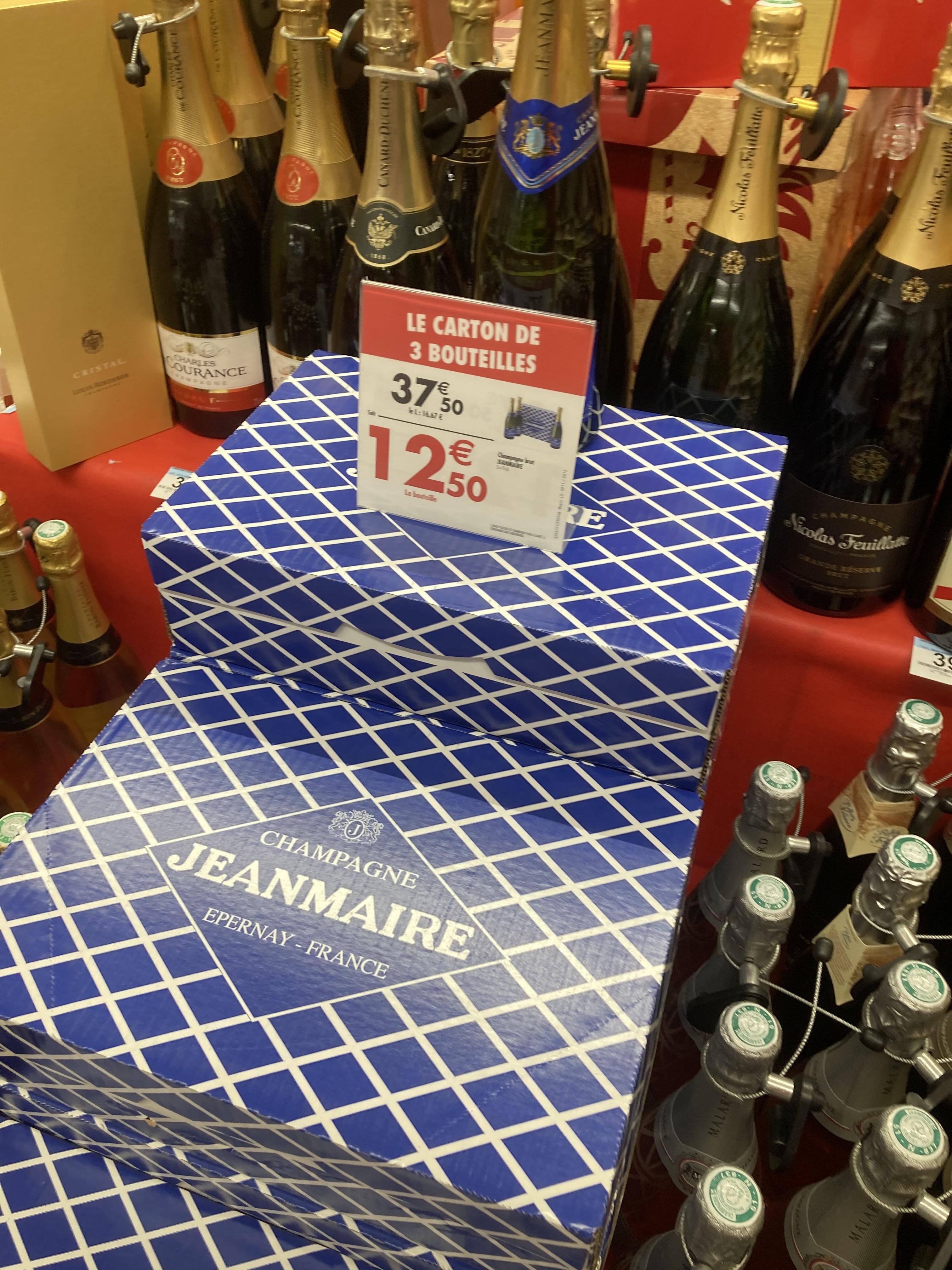 Lot de 3 bouteilles de Champagne JEANMAIRE (75cl)