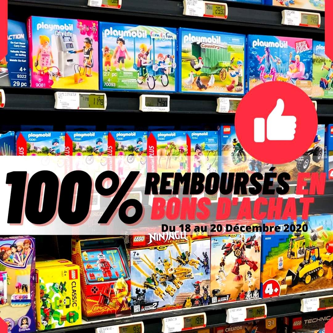 Jouets 100% remboursés en bon d'achat dans la limite de 300€ d'achats - Cucq (62)