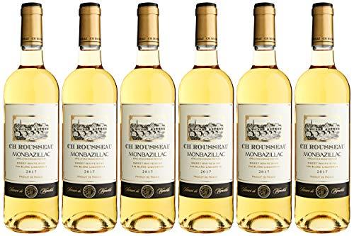 Lot de 6 Bouteilles de vin blanc CH Rousseau Monbazillac Liquoreux - 75 cl