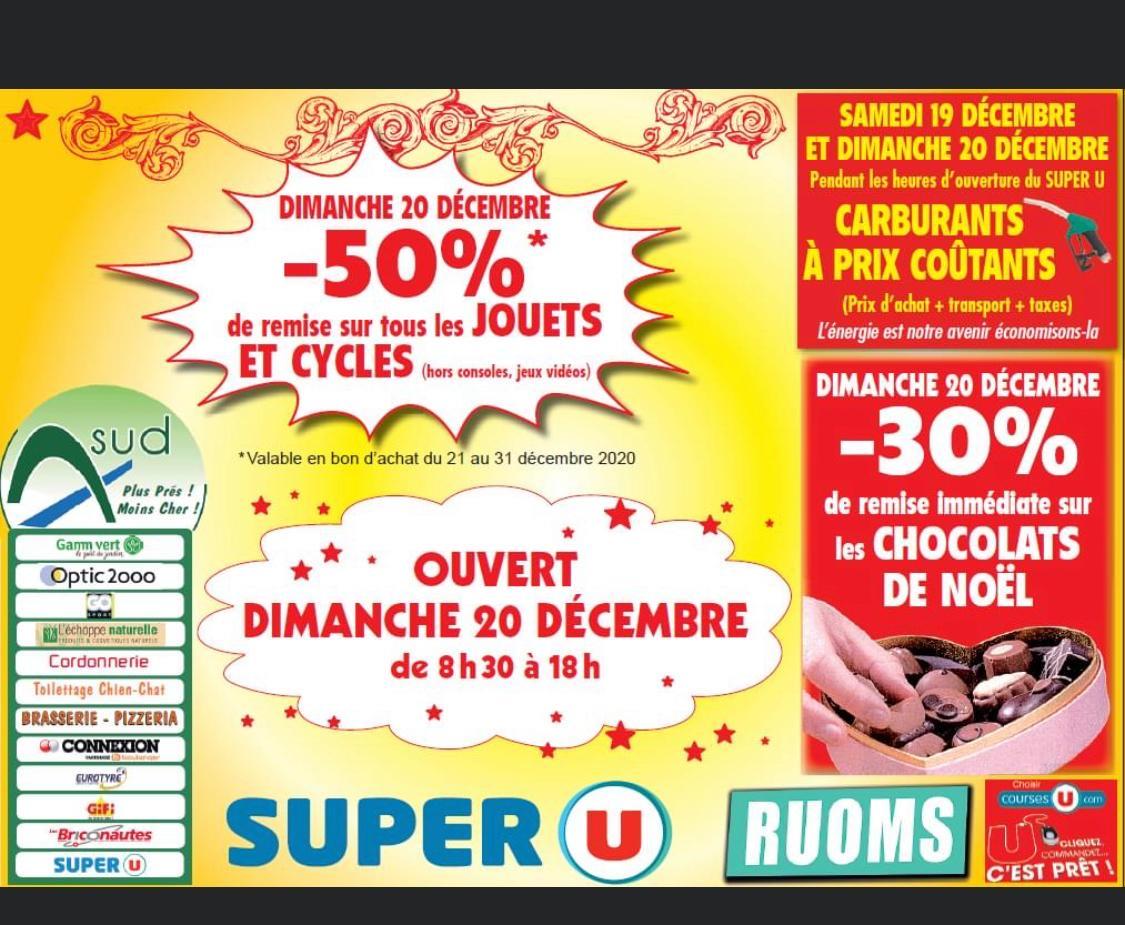 50% offerts en bon d'achat sur les Jouets - Super U Ruoms (07)