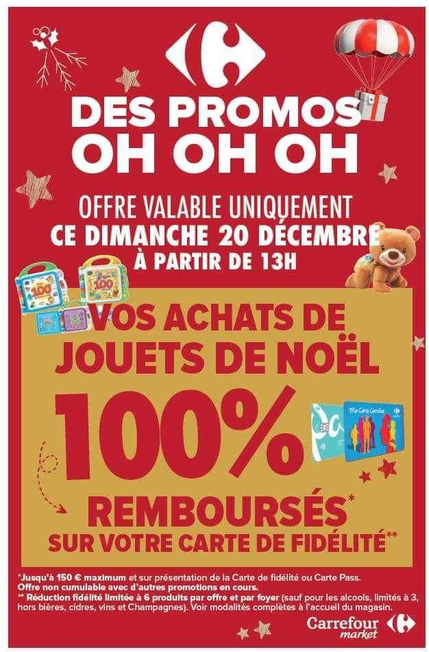 100% remboursé sur la carte fidélité sur les jouets - Ex : Carrefour Market St Jean de Maurienne 73 (Voir liste des magasins participants)