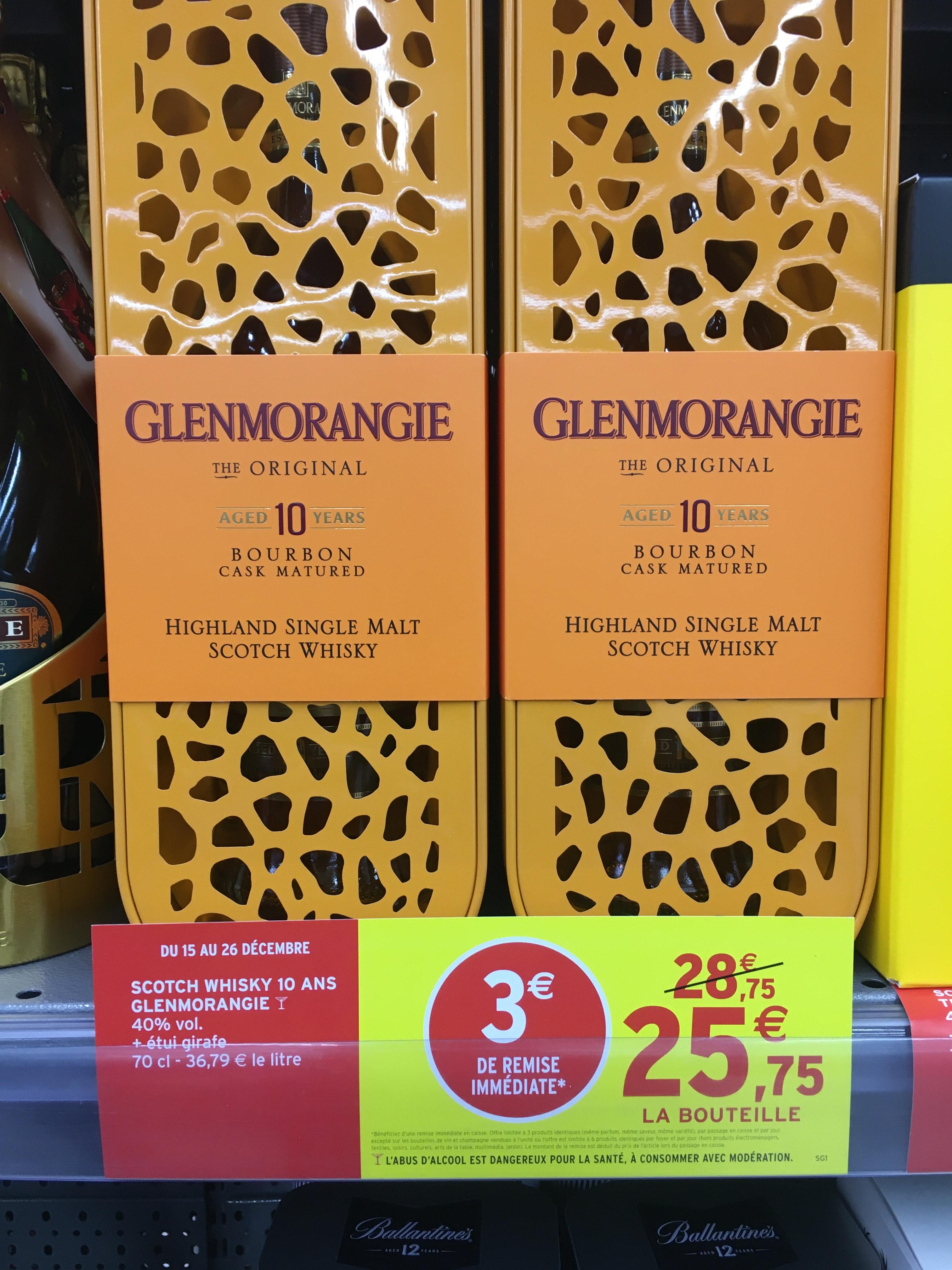 Bouteille de whisky Glenmorangie - Intermarché Champhol (28)