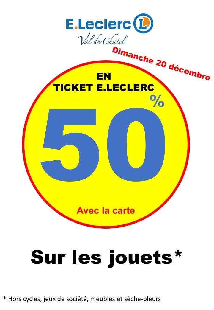 50% offerts en tickets Leclerc sur les jouets - Leclerc Provins (77)