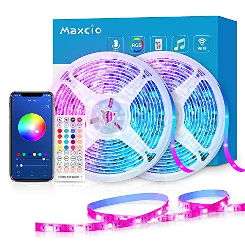 Ruban LED 5050 RGB Maxcio - WiFi, 20M, Alexa (vendeur tiers)