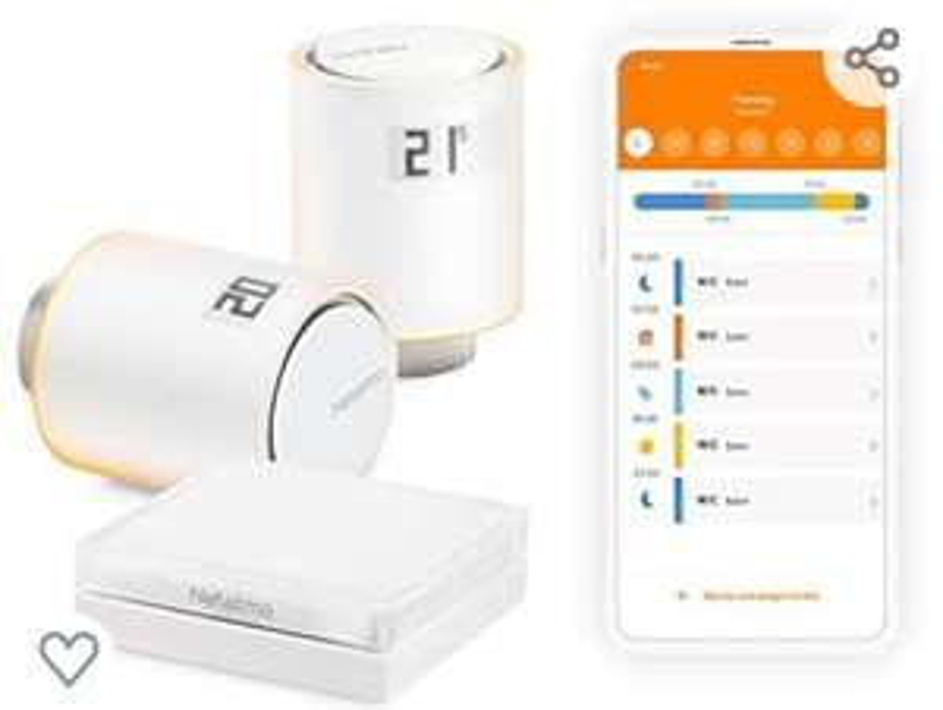 Pack pour chauffage collectif Netatmo NVP-FR - 2 Têtes Thermostatiques Connectées et Intelligentes