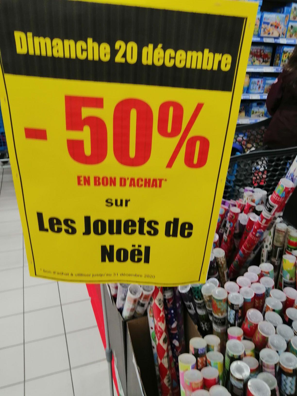 50% offerts en bon d''achat sur le rayon Jouets - Vallet (44)