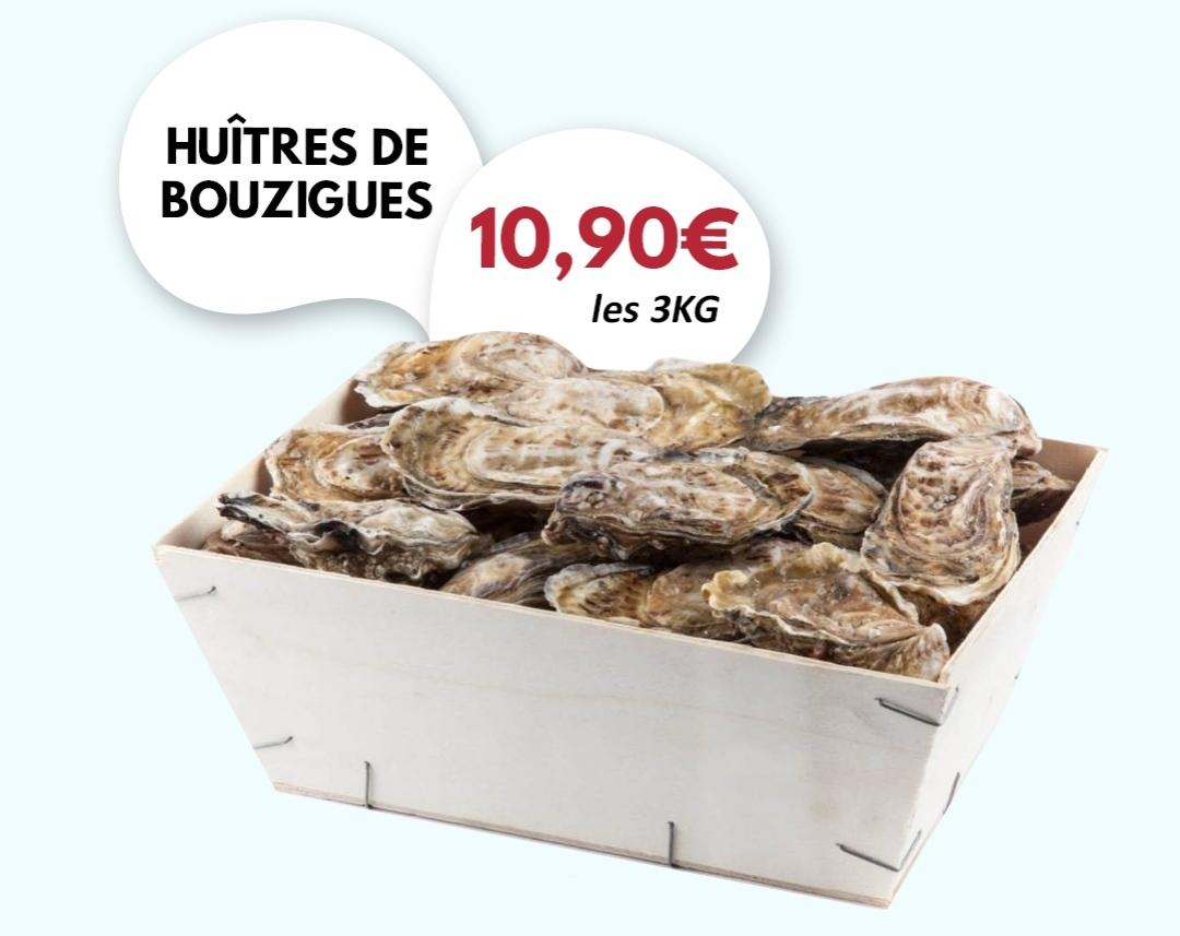 3 kg d'huîtres de Bouzigues - H Market Aulnay-sous-Bois (93)