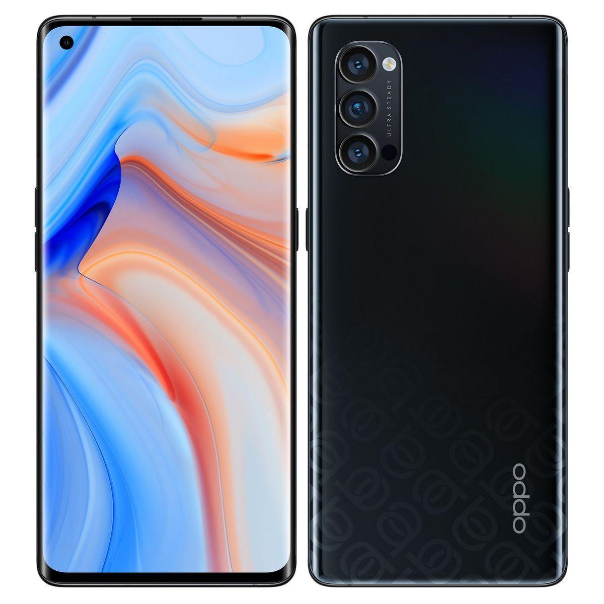 """Smartphone 6.5"""" Oppo Reno4 Pro - Full HD+ 90 Hz, 12 Go de RAM, 256 Go, Noir"""