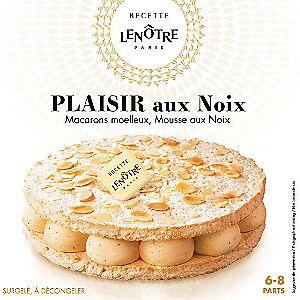 Gâteau Lenôtre Plaisir aux Noix surgelé (macarons + mousses aux noix)