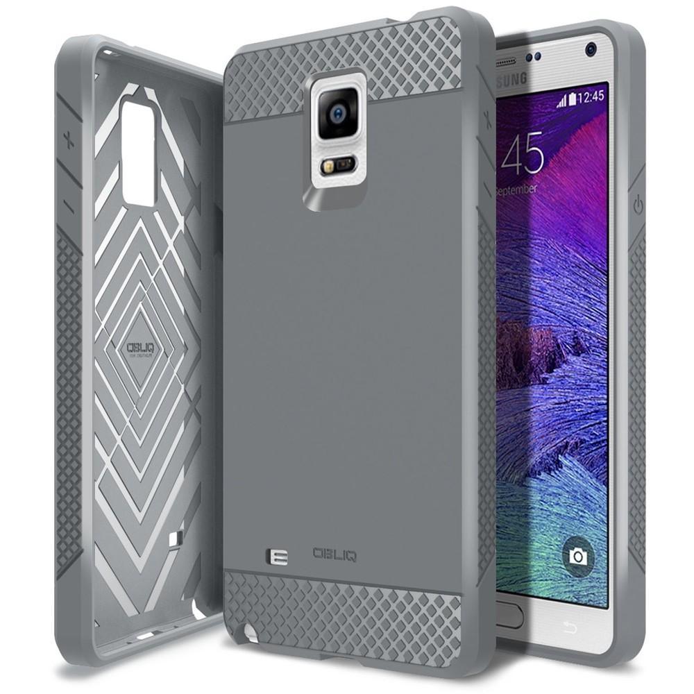 Coque Obliq Flex Pro (grise) pour Samsung Galaxy Note 4